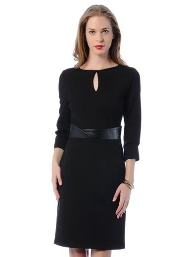 Cotton Bar Truvakar Kol Kısa Elbise Siyah